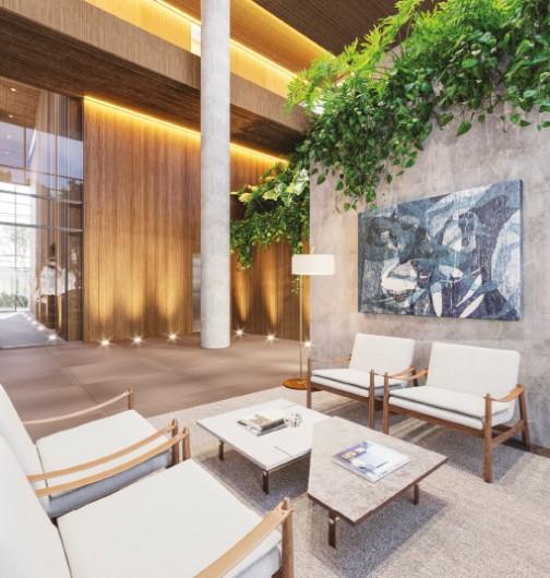 Representação Artística do Lobby