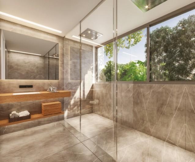 Representação Artística do Banho - Planta Opção 1